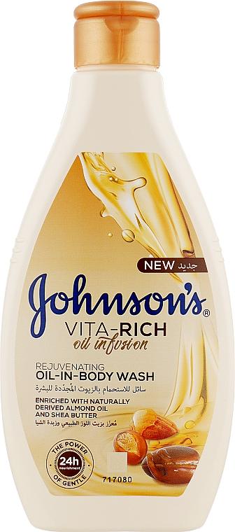 Питательный гель для душа с маслами Миндаля и Ши - Johnson's® Vita-rich Oil-In-Body Wash