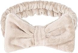 "Духи, Парфюмерия, косметика Косметическая повязка для волос, бежевая ""Wow Bow"" - Makeup Beige Hair Band"