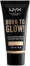Духи, Парфюмерия, косметика Сияющая тональная основа для лица - NYX Professional Makeup Born To Glow Naturally Radiant Foundation