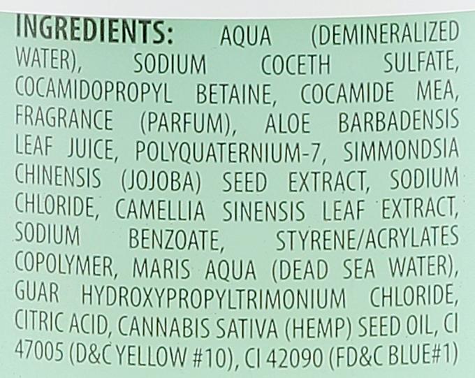 Конопляный шампунь с минералами Мёртвого моря - Mineral Beauty System Dead Sea Minerals & Cold Pressed Hemp Oil Shampoo — фото N2
