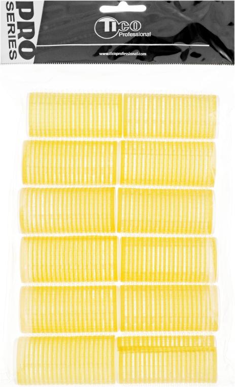 Бигуди липучки d28 мм, желтые - Tico Professional