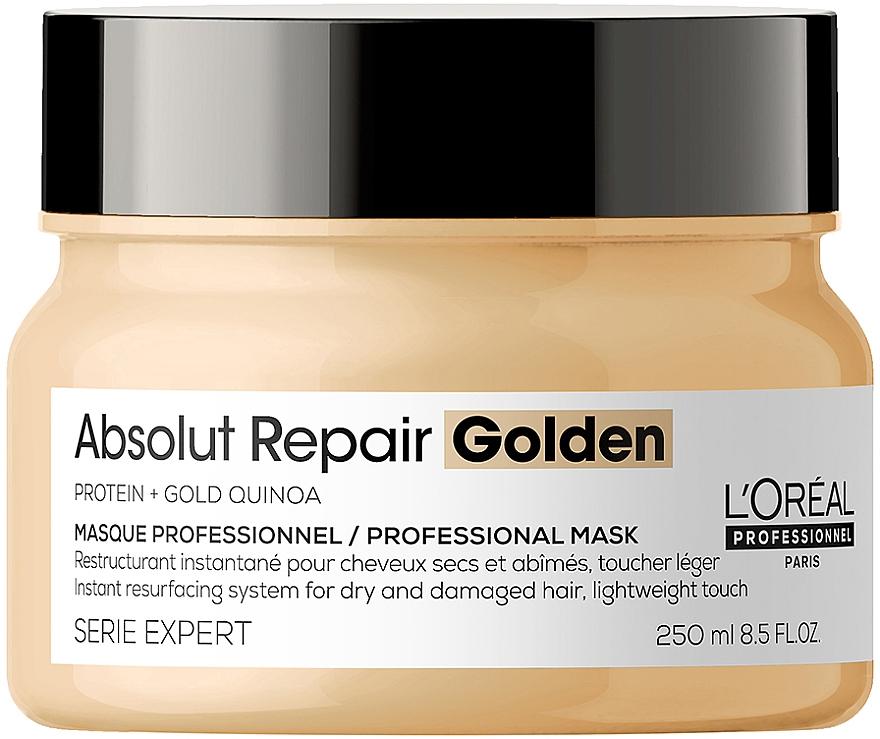 Золотистая маска для интенсивного восстановления поврежденных волос без утяжеления - L'Oreal Professionnel Serie Expert Absolut Repair Gold Quinoa+Protein Resurfacing Golden Masque