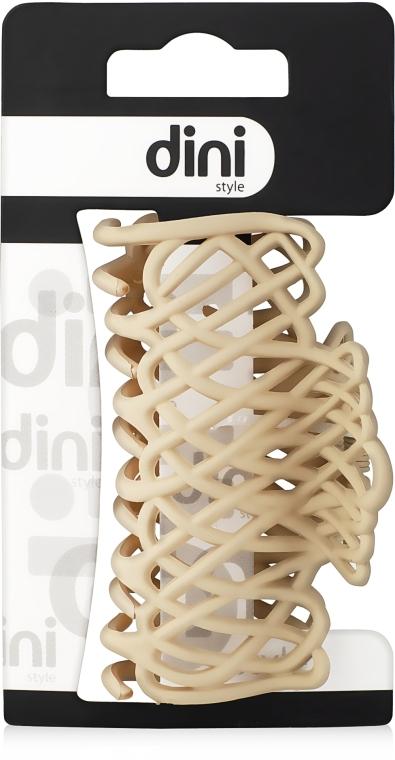 """Крабик для волос """"Плетеный"""", d-651, кремовый - Dini Matte Style"""