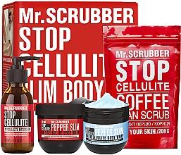 Духи, Парфюмерия, косметика Набор - Mr.Scrubber Slim&Elastic Body (oil/100ml + cr/2x250g + scrub/200g)