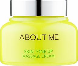 Духи, Парфюмерия, косметика Массажный крем для улучшения тона кожи - About Me Skin Tone Up Massage Cream