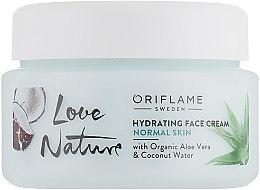 Духи, Парфюмерия, косметика Увлажняющий крем для лица - Oriflame Love Nature Hydrating Face Cream