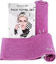 """Духи, Парфюмерия, косметика Дорожный набор полотенец для лица, сиреневые """"MakeTravel"""" - Makeup Face Towel Set"""