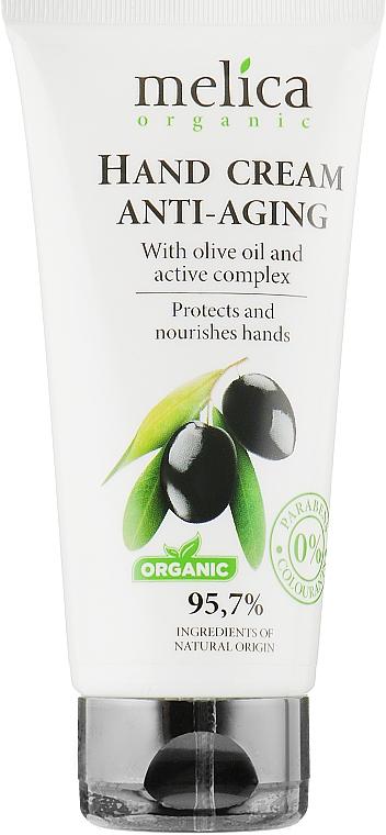Крем для рук с оливковым маслом и активными компонентами - Melica Organic With Hand Cream Anti-Aging