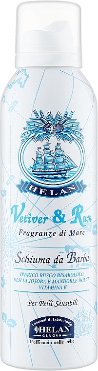 Ароматизированная пена для бритья - Helan Vetiver & Rum Shaving Foam
