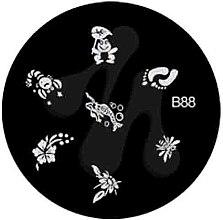Духи, Парфюмерия, косметика Диск для стемпинга, B-88 - Nails Molekula