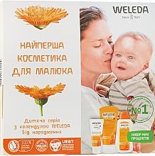 Духи, Парфюмерия, косметика Набор - Weleda Baby Calendula Set (b/cr/10ml+sh/20ml+b/oil/2ml)