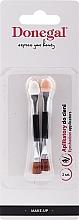 Духи, Парфюмерия, косметика Кисточки для теней, черные, 2 шт - Donegal Eyeshadow Brush