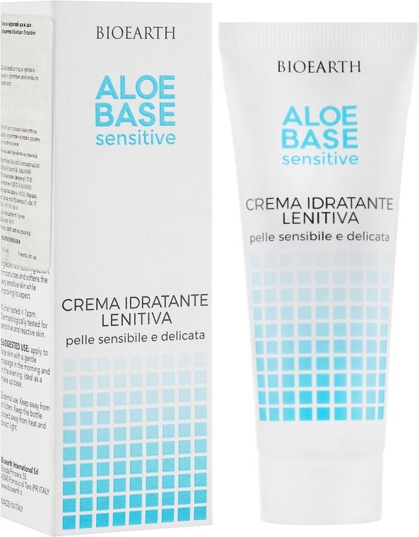 Увлажняющий крем для чувствительной кожи лица - Bioearth Aloebase Sensitive Moisturization Soothing Cream