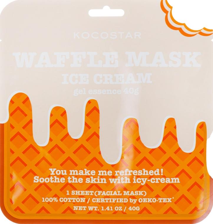 """Смягчающая вафельная маска """"Сливочное мороженное"""" - Kocostar Ice Cream Waffle Mask"""