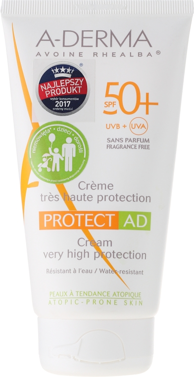 Крем для тела, солнцезащитный - A-Derma Protect AD Children Cream Very High Protection SPF 50+