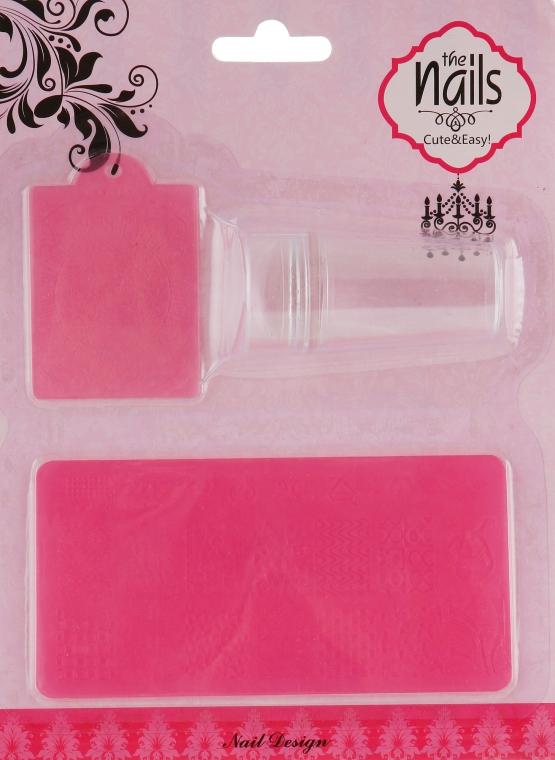 Набор для стемпинга, XY1610, розовый - Nails Molekula