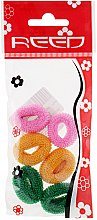 Духи, Парфюмерия, косметика Набор резинок для волос, 7576, 6 шт., розовый + горчичный + зеленый - Reed