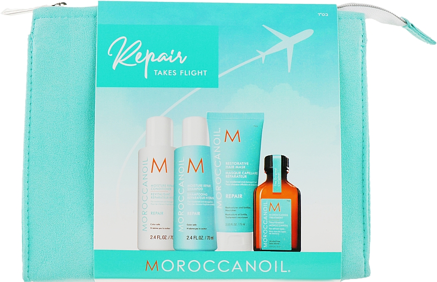 Набор - Moroccanoil Repair Takes Flight (oil/25ml + shm/70ml + cond/70ml + mask/75ml)