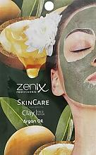 Духи, Парфюмерия, косметика Маска для лица глиняная с аргановым маслом - Zenix Professional SkinCare Clay Face Mask Argan Oil