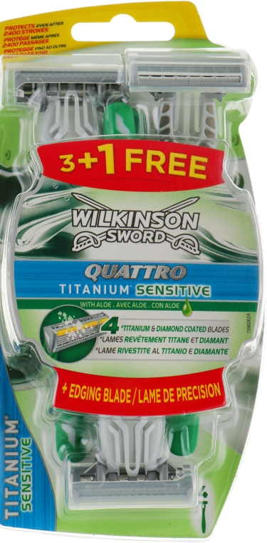 Станок для бритья - Wilkinson Sword Quattro Titanium Sensitive