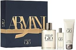 Духи, Парфюмерия, косметика Giorgio Armani Acqua Di Gio Pour Homme - Набор (edt/100ml + edt/15ml + sh/gel/75ml)