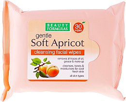 Духи, Парфюмерия, косметика Салфетки для лица, очищающие - Beauty Formulas Gentle Soft Apricot Cleansing Facial Wipes