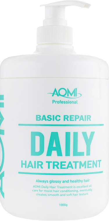 Маска для волос с экстрактом зеленого чая и алоэ вера - AOMI Basic Repair Daily Treatment — фото N1