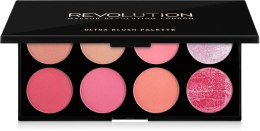 Духи, Парфюмерия, косметика Палетка из 8 румян - Makeup Revolution Blush Palette