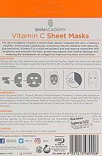 Увлажняющая маска для лица - Skin Academy Vitamin C Sheet Masks — фото N2