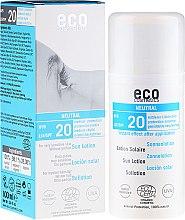 Духи, Парфюмерия, косметика Солнцезащитный лосьон без запаха - Eco Cosmetics Sun Lotion SPF 20