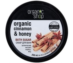 "Духи, Парфюмерия, косметика Сахар для ванн ""Цейлонская корица"" - Organic Shop Bath Sugar Organic Cinnamon & Honey"