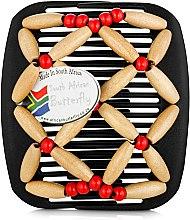 Духи, Парфюмерия, косметика Заколка для волос Ndebele 001, на черном гребне - African Butterfly Hair Clip