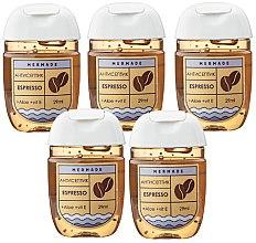 Духи, Парфюмерия, косметика Набор антисептиков - Mermade Espresso (hand/gel/5x29ml)