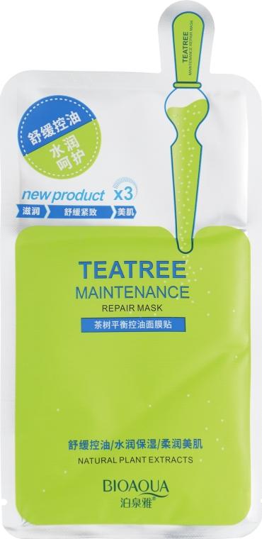 Маска тканевая с маслом чайного дерева - Bioaqua New Tea Tree Maintenance