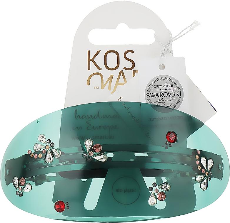 Заколка для волос LT135X57ETM, прозрачно-зеленая - Kosmart