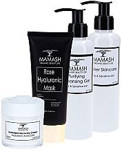 Духи, Парфюмерия, косметика УЦЕНКА Комплексный набор для сухой кожи - Mamash Organic Extra (gel/200ml + tonic/200ml + cr/50ml + mask/100ml) *