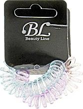 Духи, Парфюмерия, косметика Набор резинок для волос, 405004, прозрачно-розовая+прозрачно-голубая+прозрачно-фиолетовая - Beauty Line