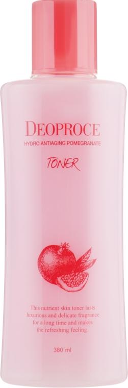 Антивозрастной тонер с экстрактом граната и гиалуроновой кислотой - Deoproce Hydro Antiaging Pomegranate Toner