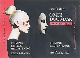 """Духи, Парфюмерия, косметика Комплекс двухкомпонентный из маски и патчей """"Укрепление и ревитализация"""" - Double Dare OMG! Duo Mask Rose Gold Therapy"""