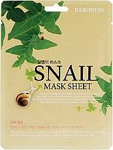 Духи, Парфюмерия, косметика Тканевая маска с муцином улитки - Beauadd Baroness Mask Sheet Snail