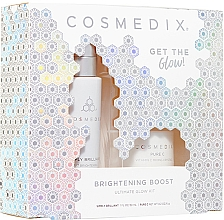 Духи, Парфюмерия, косметика Набор - Cosmedix Brightening Boost Ultimate Glow Kit (f/ser/30ml + f/powder/6g)