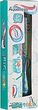 Духи, Парфюмерия, косметика Набор с сине-зеленой зубной щеткой - Aquafresh My Big Teeth (Toothpaste/50ml + Toothbrush/1 шт)