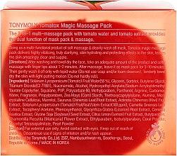 Маска для обличчя освітлювальна, томатна - Tony Moly Tomatox Magic White Massage Pack — фото N3
