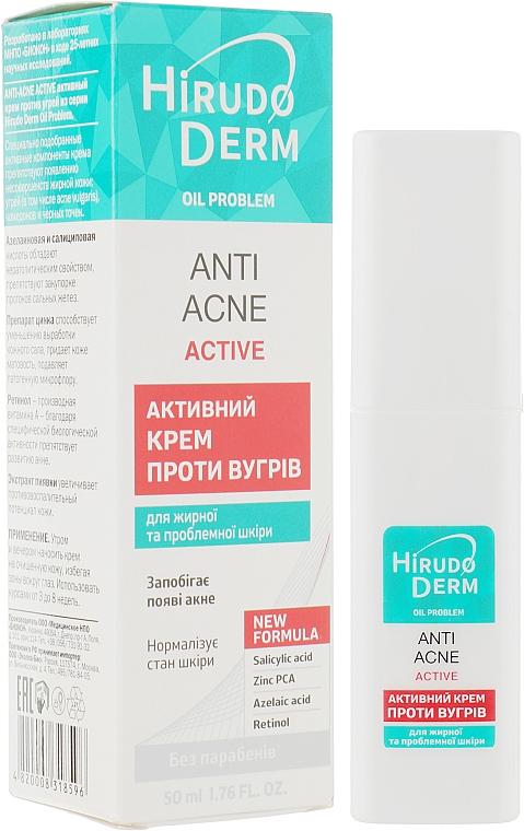Активный крем против угрей - Hirudo Derm Anti-Acne Астіve