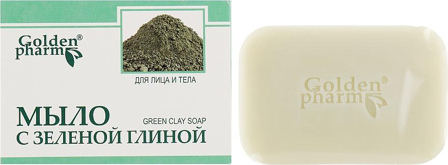 Мыло с зеленой глиной для лица и тела - Голден-Фарм