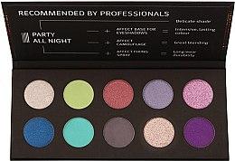 Духи, Парфюмерия, косметика Палетка прессованных теней для век - Affect Cosmetics Party All Night Eyeshadow Palette