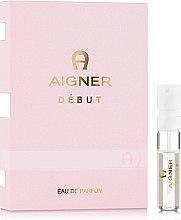 Духи, Парфюмерия, косметика Aigner Debut - Парфюмированная вода (пробник)