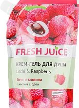 """Духи, Парфюмерия, косметика Крем-гель для душа """"Личи и малина"""" - Fresh Juice Geisha Litchi & Raspberry (дой-пак)"""