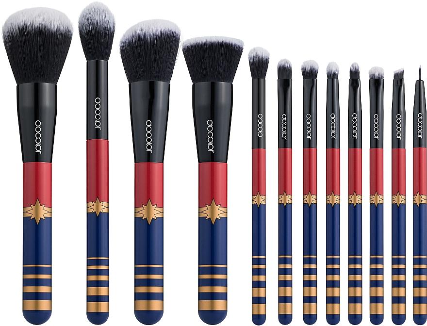 """Набор кистей для макияжа """"Starlight Goddess"""" Р1204, 12 шт - Docolor Makeup Brush Set"""