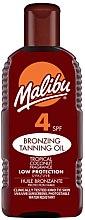 Духи, Парфюмерия, косметика Солнцезащитный крем - Malibu Bronzing Tanning Oil SPF4